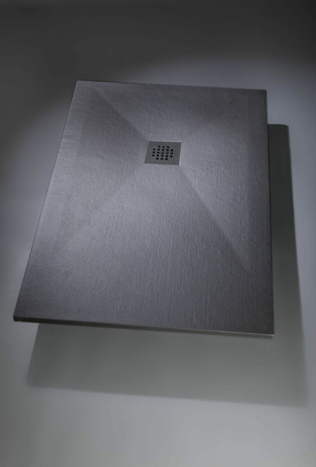 Plato de ducha de carga mineral Bsurface textura granito